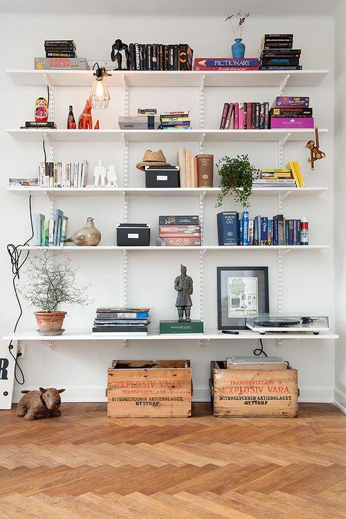 busy shelf