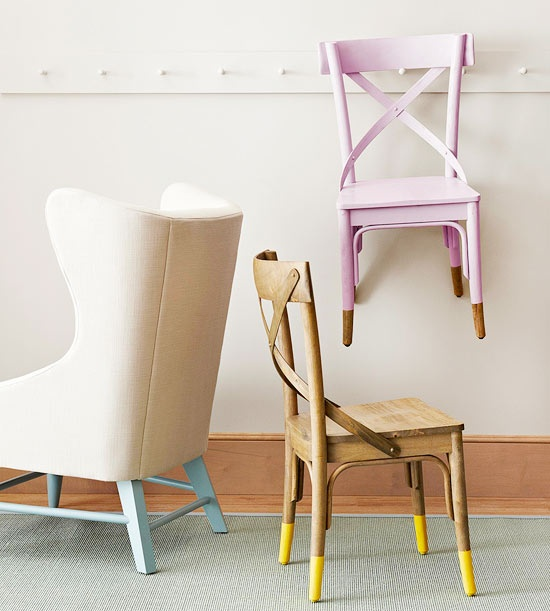 DIY painted chairs