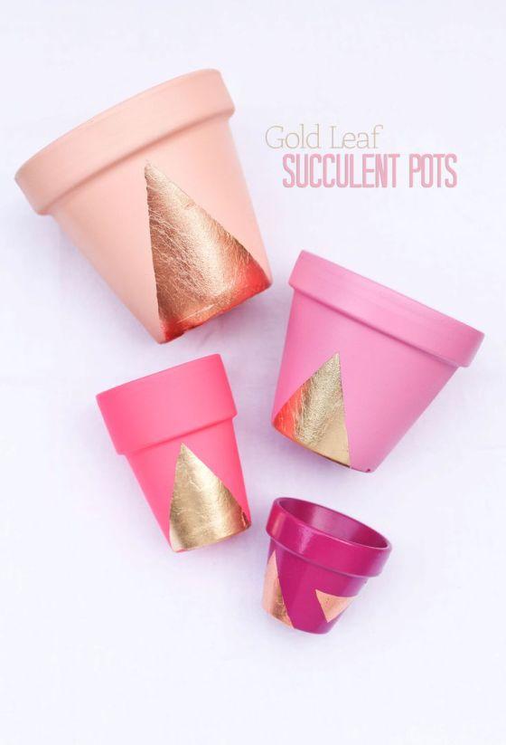 DIY pink pots