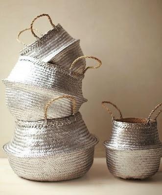 DIY silver baskets